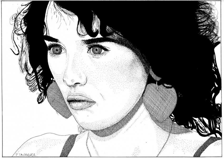Isabelle Adjani by P.Tavarner